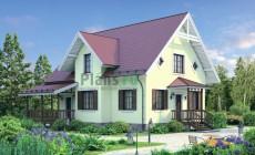 Проект кирпичного дома 72-33