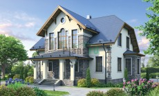 Проект кирпичного дома 72-38