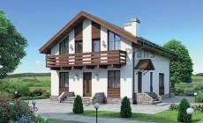 Проект кирпичного дома 72-50