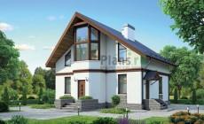 Проект кирпичного дома 72-53