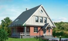 Проект кирпичного дома 72-56