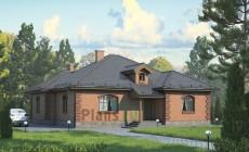 Проект кирпичного дома 72-67