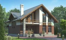 Проект кирпичного дома 72-72