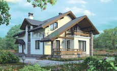 Проект кирпичного дома 72-75