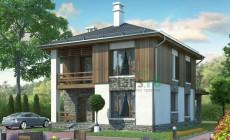 Проект кирпичного дома 72-83
