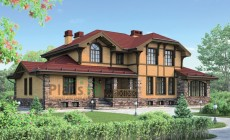 Проект кирпичного дома 72-84