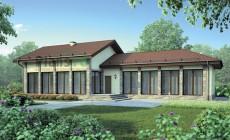 Проект кирпичного дома 72-85