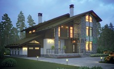 Проект кирпичного дома 72-96