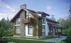 Проект кирпичного дома 72-97