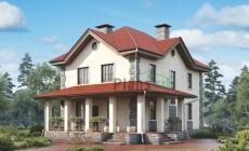 Проект кирпичного дома 73-02