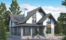 Проект кирпичного дома 73-03