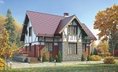 Проект кирпичного дома 73-10