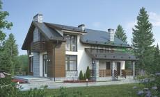 Проект кирпичного дома 73-12