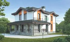 Проект кирпичного дома 73-20