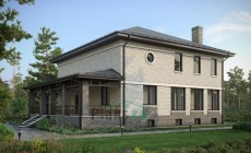 Проект кирпичного дома 73-27