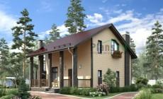 Проект кирпичного дома 73-28