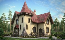 Проект кирпичного дома 73-32