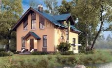 Проект кирпичного дома 73-42
