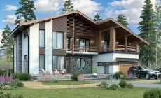 Проект кирпичного дома 73-43