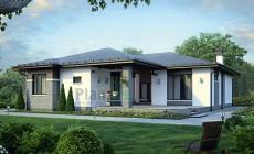 Проект кирпичного дома 73-44