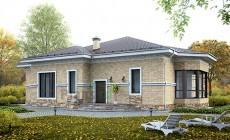 Проект кирпичного дома 73-45