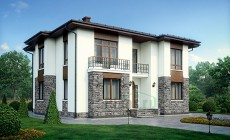 Проект кирпичного дома 73-46