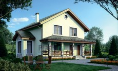 Проект кирпичного дома 73-50