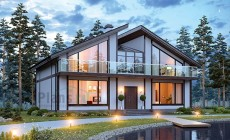 Проект кирпичного дома 73-52