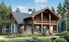 Проект кирпичного дома 73-59