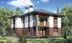 Проект кирпичного дома 73-65