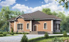 Проект кирпичного дома 73-66