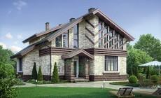Проект кирпичного дома 73-69