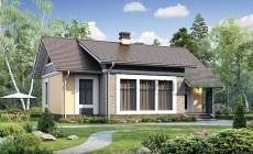 Проект кирпичного дома 73-71