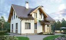 Проект кирпичного дома 73-74