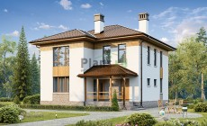 Проект кирпичного дома 73-76