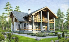 Проект кирпичного дома 73-95