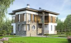 Проект кирпичного дома 74-02