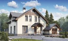 Проект кирпичного дома 74-05
