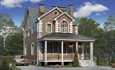Проект кирпичного дома 74-07