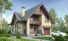 Проект кирпичного дома 74-08