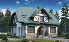 Проект кирпичного дома 74-09