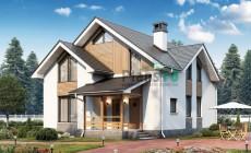 Проект кирпичного дома 74-10