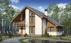 Проект кирпичного дома 74-11