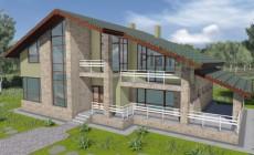 Проект кирпичного дома 74-22