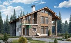 Проект кирпичного дома 74-31