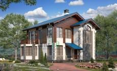 Проект кирпичного дома 74-33