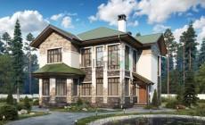 Проект кирпичного дома 74-34