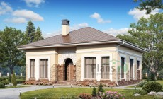 Проект кирпичного дома 74-39