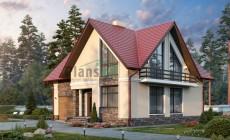 Проект кирпичного дома 74-44