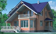 Проект деревянного дома 10-55